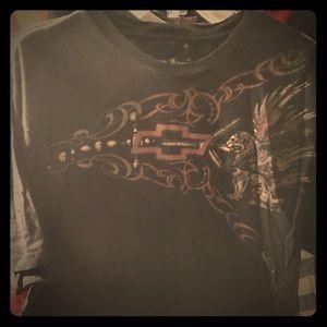 Vintage Chevy racing black t shirt